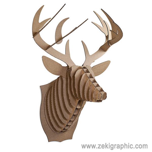Ciervo de cart n decoraci n zekigraphic - Cabeza ciervo carton ...