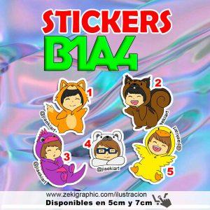 stickers_b1a4_jiaekiart_zekigraphic